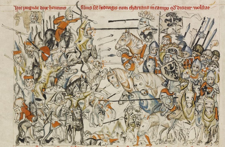 Bitwa pod Legnicą 1241 r. rycina.