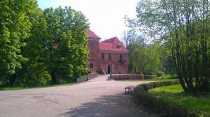 Zamek w Oporowie, droga wejściowa